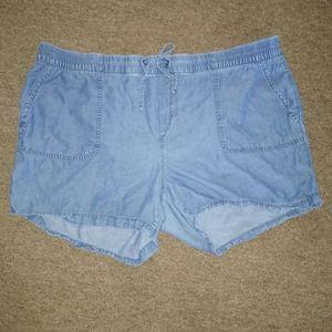 Old Navy Chambray Elastic Shorts